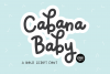 CABANA BABY A Bold Script Monoline .OTF Font example image 1