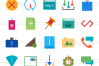 100 Material Design Flat Multicolor Icons example image 2