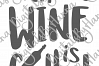 A Meal Without Wine is Called Breakfast Print & Cut PNG SVG example image 5