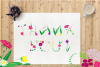 Monogram FLORAL ALPHABET- Spring/Flowers/ Easter/ Mother's d example image 5