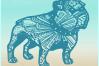 Bulldog Mandala Zentangle SVG Eps Png files for Cricut example image 3