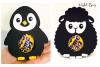 Animal egg holder designs Duck, Rabbit, Penguin and Lamb example image 3