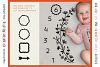 Baby MONTHLY MILESTONE BLANKET - SVG design for crafters example image 4