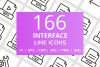 166 Interface Line Icons example image 1