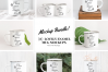 8x Enamel Bundle mockup mugs Camp tin mug rustic mockups example image 2