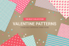 Valentine Seamless Patterns - Set 1 example image 1