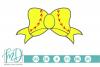 Softball Bow SVG, DXF, AI, EPS, PNG, JPEG example image 1