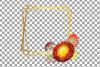 Watercolor elegant autumn geometric golden frame templates. example image 18
