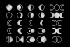 Moon Cycle Icons Clip Art Set example image 5