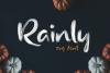Rainly - Brush & SVG Font example image 2