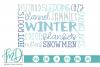 Christmas - Winter Subway Art SVG example image 1