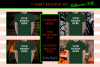 Halloween and Fall Men t-shirt Mockup Bundle, Green tshirt example image 1