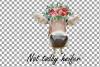 Not today Heifer printable shirt, mug, card floral cow png example image 7