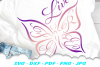 Live Free Inspirational Butterfly SVG DXF Cut Files example image 3