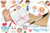 Happy Family 1 Clipart, Instant Download Vector Art example image 4