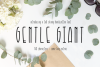 Gentle Giant Condensed Font example image 1