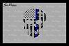 Blue Line Distressed Skulls SVG DXF EPS PNG example image 3