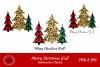 Buffalo Plaid Leopard Christmas Trees Sublimation Bundle example image 1