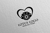 Yoga and Spa Lotus Flower logo 8 example image 5