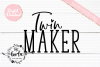 Twin Maker SVG DXF PNG EPS Cutting Files example image 3