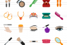50 Makeup & Accessories Flat Multicolor Icons example image 2