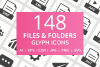 148 Files & Folders Glyph Icons example image 1