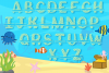 Mermaid Alphabet and Split Letters SVG Cut Files Pack example image 5