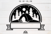 Camp Camping Ribbon Svg Design example image 3