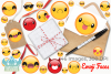 Emoji Faces Clipart, Instant Download Vector Art example image 4
