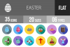 35 Easter Flat Long Shadow Icons example image 1