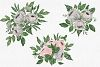 Gray and Pink Blooming. Watercolour clipart collection. example image 5