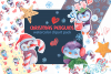Christmas Penguins watercolor CLIPARTS, DIGITAL PAPERS example image 1