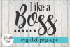 Like a Boss Mother Hustler SVG Cutting Files example image 1