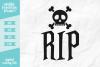 RIP Skull Crossbones SVG DXF EPS PNG example image 1