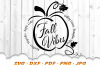 Fall Vibes Word Pumpkin SVG DXF Cut Files example image 2