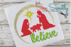 Christmas Nativity Applique Embroidery Design example image 1