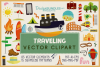 85 Traveling Vector Clipart & Seamless Patterns example image 1