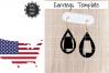 Earrings Template - Alabama Teardrop Earrings Svg example image 1