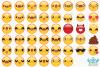 Emoji Faces Clipart, Instant Download Vector Art example image 2