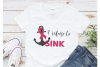 I refuse to sink, ribbon svg, breast cancer awareness example image 1