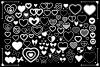 Simple Doodle Heart Clip Art Set example image 2