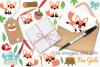 Fox Girls Clipart, Instant Download Vector Art example image 4