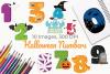 Halloween Numbers Clipart, Instant Download Vector Art example image 1