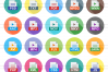 50 File Formats Flat Long Shadow Icons example image 2