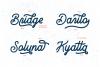 Brandon Smith - Handcrafted Monoline Font example image 4