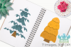Christmas Trees Clipart, Instant Download Vector Art example image 3