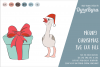 Merry Christmas SVG / Flamingo SVG / Christmas gift Cut File example image 1