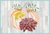 Pumpkin with Leaves and Mums SVG example image 3