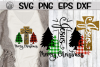 Jesus - Cross - Merry Christmas - Plaid - SVG PNG DXF EPS example image 1