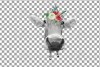 Not today Heifer printable shirt, mug, card floral cow png example image 11